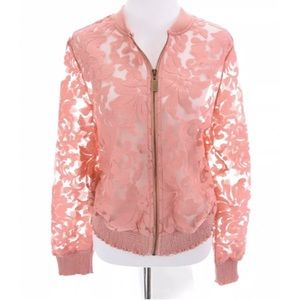 NWT Lane Bryant Pink Lace  Jacket Sheer Sz 14 16
